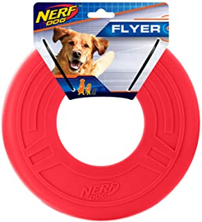 Nerf Dog Atomic Flyer Dog Toy, Frisbee, Lightweight, Durable and Water Resistant, Great for Beach and Pool, 10 inch diamet...