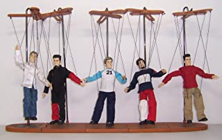NSYNC COLLECTIBLE (5) MARIONETTE DOLLS w/STANDS 2001 by Living Toyz