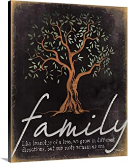 Family - Like Branches of a Tree Canvas Wall Art Print, 16