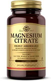 Solgar Magnesium Citrate, 120 Tablets - Promotes Healthy Bones - Supports Nerve & Muscle Function - Non GMO...