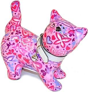 Pomme Pidou Skarbonka kot Kitty różowa z motylami skarbonka prezent pieniężny