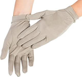Silky Affection - Women's Short Mulberry Silk Gloves   Sun and Cold Protection, Versatile – for Driving, Fashion or as Liners