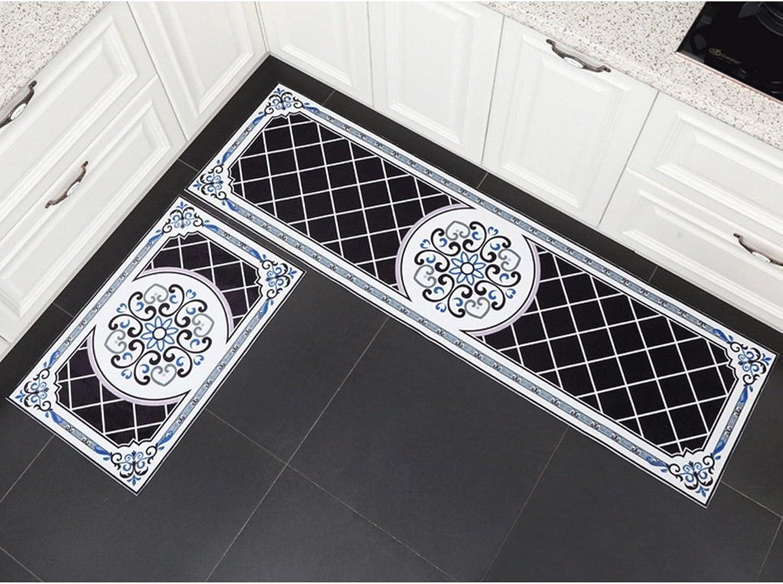 2 Kitchen Mat Sets Long Strips of Absorbent Mats Bathroom Rugs (Size   45cm75cm+45cm120cm)