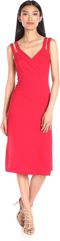 BCBGeneration Womens Strap Detail Column Dress Dress