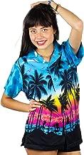 Original King Kameha | Funky Camisa Hawaiana Mujeres | XS-6XL | Manga Corta Bolsillo Delantero| impresión De Hawaii| Mondy |único