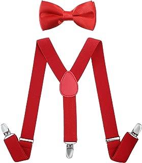 Childrens Boys Kids Red Braces