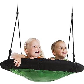 "Swing-N-Slide NE 4630 Nest Swing Outdoor Swing with 40"" Diameter, Green & Black"