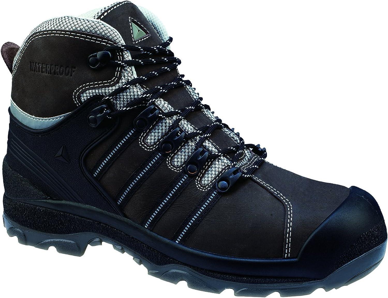 Chaussure haute cuir buffalo avec renfort avant en pu NOMAD S3 CI HI WR SRC - Marron, 40