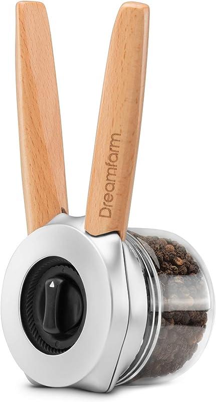 Dreamfarm Ortwo One Handed Salt Pepper Spice Mill 4oz Wood