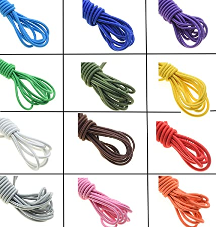 Round Elastic Cord Stretchable Bungee Shock String for Sewing DIY Crafts 1mm