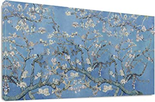 Almond Blossom Tree by Vincent Van Gogh Classic Wall Art Reproduction Print On Canvas Framed for Home Decor 20