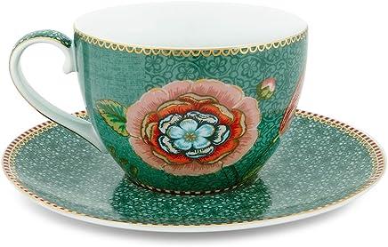 Preisvergleich für Pip Studio Cappuccino Cup & Saucer Spring to Life | green | 280 ml