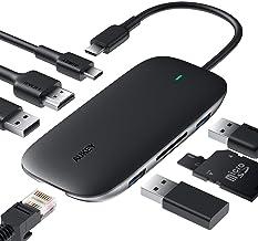 usb c ハブ 8-in-1 AUKEY USB Type Cハブ 100W PD急速充電/イーサネット/4K HDMI/USB3.0×3/SD&Micro SDカードスロット搭載 Macbook/ChromeBook 他対応 CB-C71
