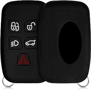 kwmobile Autoschlüssel Hülle kompatibel mit Land Rover Jaguar 5 Tasten Funk Autoschlüssel   Silikon Schutzhülle Schlüsselhülle Cover in Schwarz