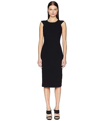 Zac Posen Bonded Crepe Dress (Black) Women