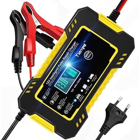 Nwouiiay Autobatterie Ladegerät 6a 12v Batterieladegerät Automatische Reparatur Typ Intelligente Blei Säure Ladegerät Ladegerät Für Fahrzeug Und Motorrad Auto