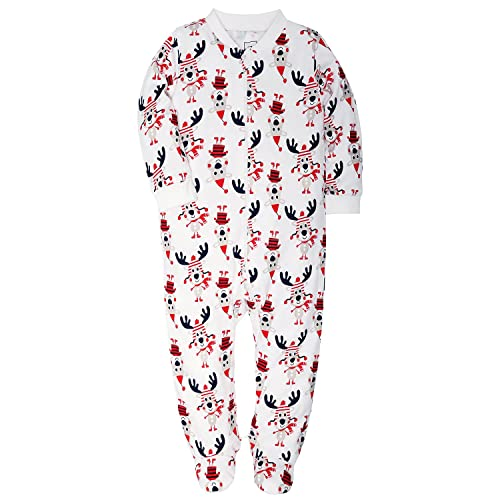 0ce185dd8 HONGLIN Footed Pajamas Baby Boys Girls Sleeper Long Sleeve 100% Cotton Zip  Front Neutral