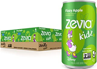 Zevia Kidz Sparkling Drink, Fizzy Apple, 7.5 Ounce Cans (Pack of 24)
