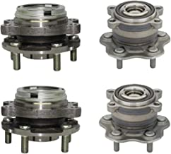 Detroit Axle - Front Wheel Bearing and Rear Hub Assembly Set for 2009-2016 Maxima - [13-15 Pathfinder FWD] - 13 JX35 - [14-16 QX60] - 2007-2012 Nissan Altima 3.5L - 2013 Altima 3.5L Coupe