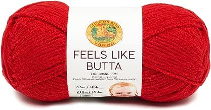 Lion Brand Yarn 215-113 Feels Like Butta Yarn, Red