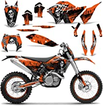 Wholesale Decals MX Dirt Bike Graphic Kit Sticker Decals Compatible with KTM SX XCR-W XCF-W EXC XC-W 2007-2011 - Reaper Orange