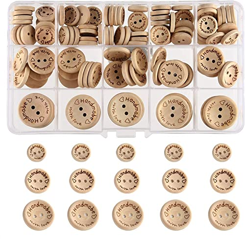 20mm /& 25mm mix LAVENDER  Pkt of 12 **NEW** WOODEN Buttons
