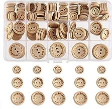 Legno piccoli bottoni bottone 1,5cm 15mm 10 PZ Nuovo Marrone Medio