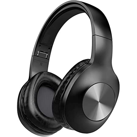 HiFi Sound with Deep Bass 24H Playtime CVC8.0 Noise Cancelling Mics Tribit XFree GO Bluetooth Headphones USB lightening Fast charge Wireless Headphones over Ear with Bluetooth 5.0 Black