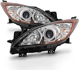 ACANII - For 2010 2011 2012 2013 Mazda 3 Mazda3 Halogen Headlights Headlamps 10-13 Driver + Passenger Side