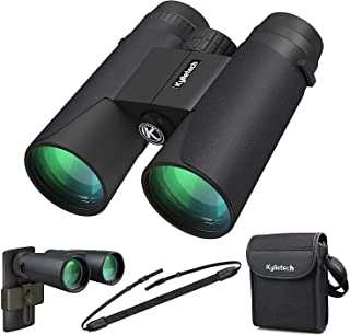 Kylietech 12X42 Binoculars with Phone Adapter Professional HD Compact Waterproof and Fogproof Telescope Sports-BAK4 Prism ...