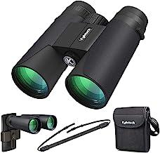 دوربین Kylietech 12X42 با آداپتور تلفن حرفه ای HD Compact ضد آب و ضد تلسکوپ ورزشی BAK4 Prism FMC لنز برای تماشای پرنده پیاده روی کنسرت شکار ستاره دار با کیسه حمل