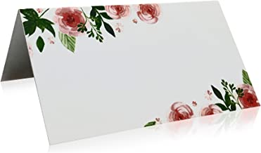 Jot & Mark Place Cards Floral, 50 Count | Table Tented Cards for Weddings, Seating, Party, Events