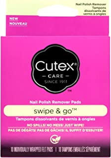 Cutex Care Swipe and Go Nail Polish Remover Pads, 10 Count