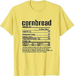 Thanksgiving Cornbread Nutritional Facts T-Shirt