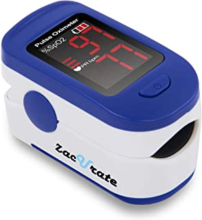 Zacurate 500BL Fingertip Pulse Oximeter Blood Oxygen Saturation Monitor with Batteries..