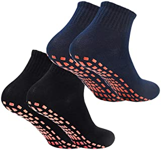 Calcetines Deporte 2 Pares Calcetines Antideslizantes para Hombre Mujer Algodón Transpirable Calcetines Deportivos para Pilates Yoga Fitness Gimnasia