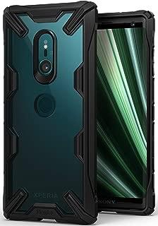 【Ringke】Xperia XZ3 ケース 対応 落下衝撃吸収 ストラップホール TPU PC [米軍MIL規格取得] 二重構造 スマホケース 背面クリア Qi ワイヤレス充電対応 (Black/ブラック) Fusion-X [ SOV39 SO-01L 801SO ] XZ3 ケース