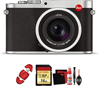 Leica Q (Typ 116) Digital Camera (Silver Anodized) with Memory Card and Cleaning Kit Bundle