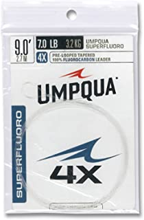 Umpqua Superfluoro 9ft Pre-Looped Tapered Leader - Fly Fishing