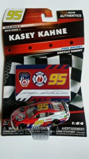 NASCAR Authentics Kasey Kahne #95 Diecast Car 1/64 Scale - 2018 Wave 11 - with Die Cut Magnet - Collectible