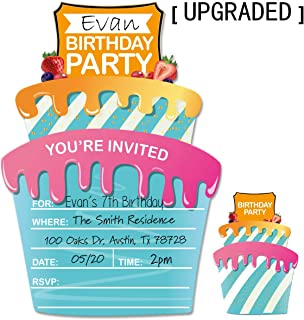 30 Kids Birthday Party Invitations Cards with Envelopes for Boys or Girls.