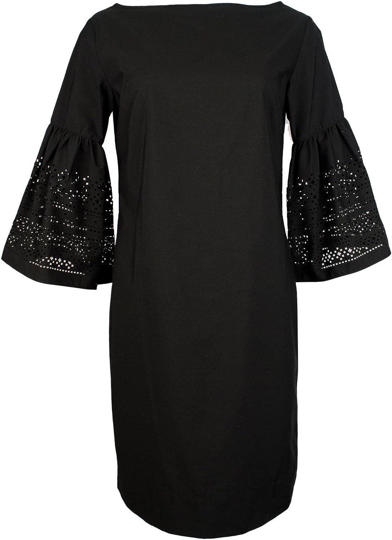 Lauren Ralph Lauren Womens Kadijah Laser Cut Bell Sleeve Cocktail Dress