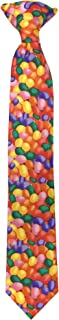 Jacob Alexander Boys' Jellybean Print Easter 14 inch Clip-On Neck Tie