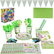 10 Piece Set Dinosaur Theme Party Package Disposable Paper Cup Straw Knife Fork Spoon Children Birthday Tableware Paper Ha...