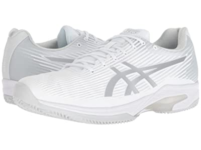 ASICS Solution Speed Clay (White/Silver) Men