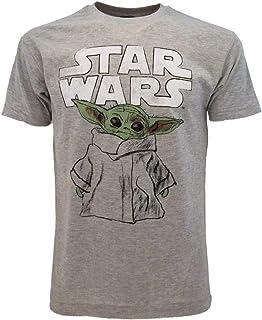 Fashion UK Camiseta The Mandalorian Original Child Sketch Pequeño Yoda esbozo niño oficial gris