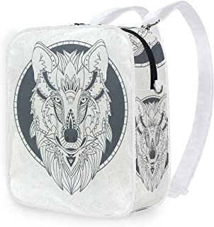 DEZIRO - Mochila de hombro, diseño de lobo