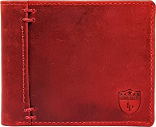 Louis Pearl Men Red Genuine Leather Wallet (7 Card Slots) (Red)