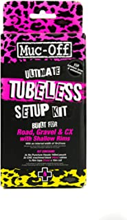 Muc-Off Ultimate Tubeless Setup Kit For Tubeless Ready Bikes, Road/Gravel/CX 44mm - Includes Rim Tape, Seal Patches, Tubel...