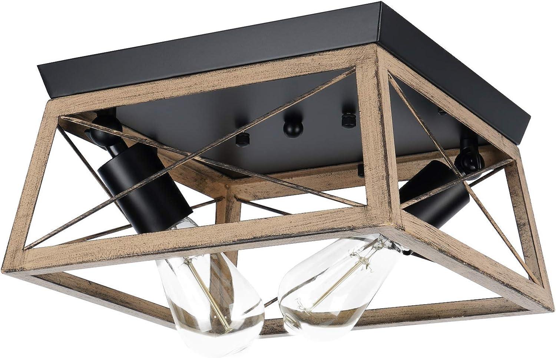 Hipokrach Industrial Semi Ranking TOP5 Flush Mount Over item handling ☆ Light 2 Adjustabl Ceiling